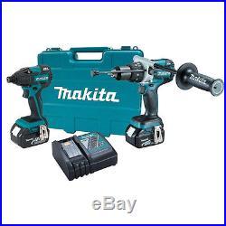 18V 4.0ah LXT Hammer Drill & Impact Driver Tool Kit Makita XT257M New