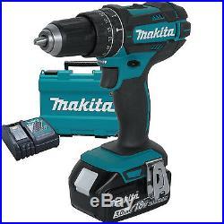 18V LXT Li-Ion 1/2 Hammer Driver-Drill Kit replaces XPH012 Makita XPH102 New