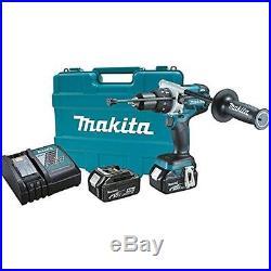 18V Lxt Lithium-Ion Brushless Cordless 1/2 Hammer Driver-Drill Kit Makita