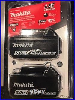 2 Brand New Makita BL1850B 18V 5.0Ah LXT Lithium-Ion Battery BL1850B-2 Sealed