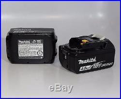 2 Genuine Makita BL1840B 18V 72Wh Lithium Ion Packs w LED Fuel Gauge Loose