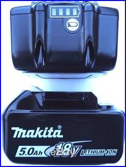 (2) NEW IN PACK Genuine Makita BL1850B-2 18V Batteries 5.0 AH LED Gauge 18 Volt