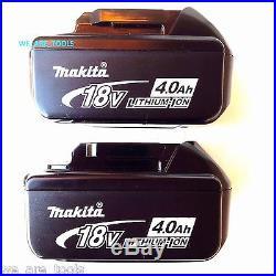 2 NEW Makita BL1840B 18V GENUINE Batteries 4.0 AH With Fuel Gauge Fr Drill, 18 Volt