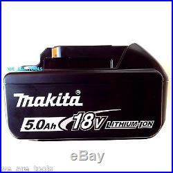 2 NEW Makita LED GAUGE BL1850B-2 18V GENUINE Batteries 5.0, (1) Charger 18 Volt