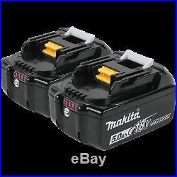 (2) NEW Makita LED GAUGE BL1850B-2 18V GENUINE Battery 5.0 AH 18 Volt bl1850