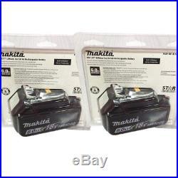 2 Pack Plastic seal Makita 6.0AH 18v Li-ion battery BL1860B with indicator