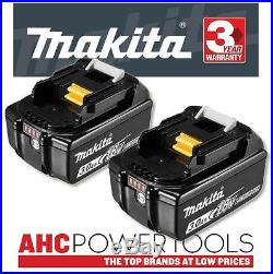 2 x Makita BL1830B 18V Li-Ion Battery 3.0Ah (With Charge Level Indicator)