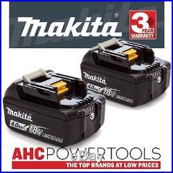2 x Makita BL1840B 18V Li-Ion Battery 4.0Ah (With Charge Level Indicator)