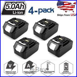 4X For Makita BL1850B 18V LXT Impact Resistant Charging Lithium Ion 5Ah Battery