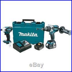 DISCOUNTED Makita 18-Volt LXT Lithium-Ion Brushless Cordless Combo Kit XT252MB