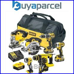 Dewalt XR 18v 6 Piece Brushless Kit + 3 x 5.0Ah Li-Ion Batteries Charger + Bag