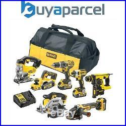 Dewalt XR 18v 7 Piece Brushless Kit + 3 x 5.0Ah Li-Ion Batteries Charger, Bag