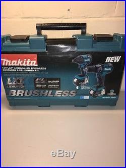 Makita 18 V Lxt Lithium Ion Brushless Cordless Combo Kit Model Xt248 Nib