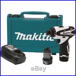 MAKITA FD01W NEW 12V Max LithiumIon 12 Volt Cordless 1/4 Hex Driver Drill Kit