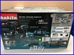 MAKITA LXT407 18-Volt LXT Lithium-Ion Cordless 4-Piece Combo Kit (GCE023267)