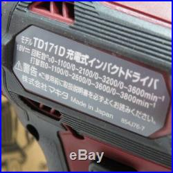 MAKITA TD171DZAR impact driver TD171DZ 18V body only from Japan
