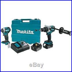 MAKITA XT268T 18V LXT LithiumIon Brushless Cordless 2Pc. Combo Kit (5.0Ah)