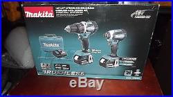 MAKITA XT269M 18V LXT 4.0Ah LITHIUM-ION BRUSHLESS CORDLESS 2-PC COMBO KIT-NISB
