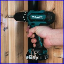 Makita 12v CXT Twin Pack HP331 Combi Hammer Drill + TM30 Multi Tool + Access