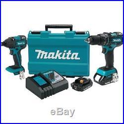Makita 18V Compact Lithium-Ion Brushless Cordless Combo Kit (XT248R)