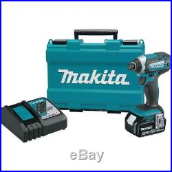 Makita 18V LXT 3.0 Ah Cordless Li-Ion 1/4 Hex Impact Driver Kit XDT111 new
