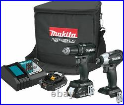 Makita 18V LXT Lithium-Ion Sub-Compact Brushless Cordless 2-Pc Combo Kit NEW SET