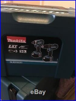 Makita 18V Set DLX2131Jx1 New! 3 x 3ah Batteries