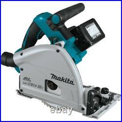Makita 18V X2 5.0 Ah Li-Ion BL 6-1/2 in. Plunge Circular Saw XPS01PTJ New
