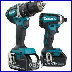 Makita 18-Volt 18V LXT Cordless Hammer Drill and Impact Driver Set Combo Kit
