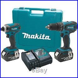 Makita 18 Volt 2 Piece LXT Combo Kit with 4.0 Ah Batteries XT211M New