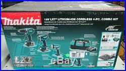Makita 18-Volt LXT407 Lithium-Ion Combo Kit (4-Tool)