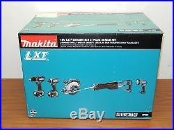 Makita 18 Volt LXT Lithium Ion Cordless 5 Piece Combo Power Tool Kit XT505