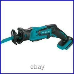 Makita 18v Cordless Combo Tool Kit 6 Tools Drill Impact Saw Vacuum Light Set