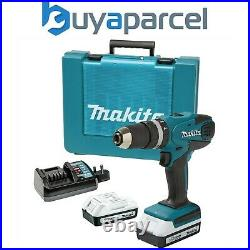 Makita 18v Lithium ion Cordless Combi Hammer Drill with 2 Batteries HP457DWE