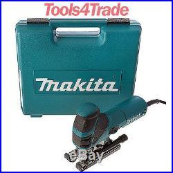 Makita 4351FCT 240V Orbital Action Jigsaw & Tool-less Blade Fixing and Job Light