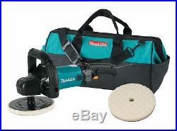 Makita 9237CX2 7 in. Polisher withLoop Handle, Foam Pad and Contractor Bag