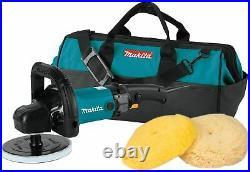 Makita 9237CX3 7 Corded 3000RPM Variable Speed polisher Bag & 2 Pads