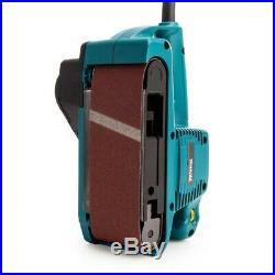 Makita 9911 3 3 Inch 75 x 457mm Heavy Duty Corded 110v Belt Sander + Dust Bag