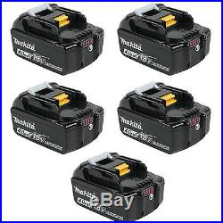 Makita BL1840B 18-Volt 4.0Ah LXT Lithium-Ion Battery with Indicator, 5-Pack