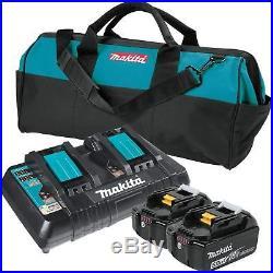 Makita BL1850B2DC2X 18V LXT Li-Ion Battery & Dual Port Charger Starter Pack