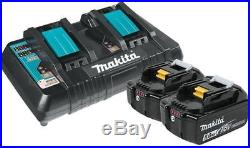 Makita BL1850B2DC2 18V 5.0ah Battery 2 Pack BL1850 & Dual Port Charger DC18RD