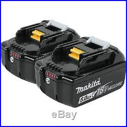 Makita BL1850B-2 18 Volt LXT Lithium-Ion 5.0Ah Battery, 2 Pack