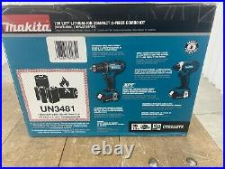 Makita Combo Kit Driver Drill Impact Driver 18V Lithium-Ion CT225SYX 2 Piece