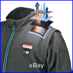 Makita DCJ200ZM Black 18-Volt LXT Lithium-Ion Heated Jacket Kit Kit Medium