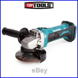 Makita DGA452Z 18V 115mm Cordless Angle Grinder With Free Tape Measures 8M