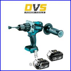 Makita DHP481Z 18v LXT Brushless Combi Drill with 2 x 5.0Ah Batteries BL1850