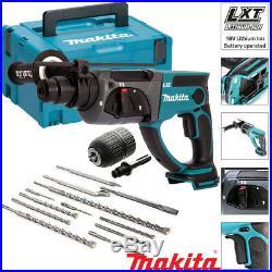 Makita DHR202Z 18V Cordless SDS+ Rotary Hammer Drill + 12pcs Acc & Chuck & Case