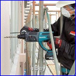 Makita DHR202Z 18V Cordless SDS+ Rotary Hammer Drill + 17pc Acc & Keyless Chuck