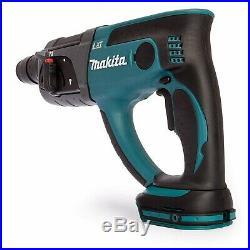Makita DHR202Z LXT 18v SDS Hammer Drill 3 Function + 5 x Bits Chisel + Chuck