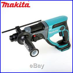 Makita DHR202 18V SDS Plus LXT Rotary Hammer Drill With Case & 4pc Chisel Set